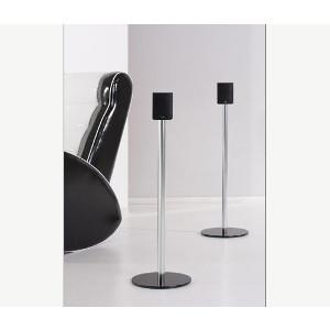 Lautsprecher Ständer Sourround Alu Halterung Schwarz Glas