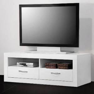 TV-Schrank:Tisch Lowboard, weiß