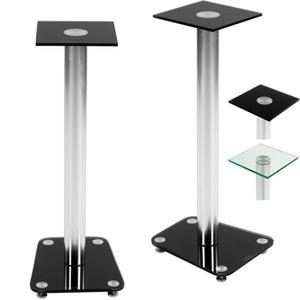 Boxenständer von STILISTA® aus Alu / Glas in schwarz